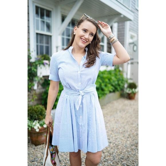 7461b366d3e 🎈NEW🎈 Alicia Bell Pin Stripe Shirt Dress